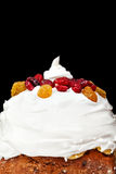 Christmas creamy cake profile Stock Photo