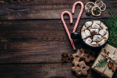 Christmas and New Year holiday composition royalty free stock photography