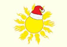 Christmas creative sun Stock Images