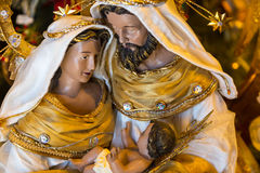 Christmas Creche. A Christmas creche decoration for the holiday season royalty free stock image