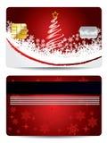 Christmas credit card design Royalty Free Stock Photos