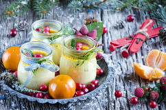 Christmas creme brulee Stock Photos