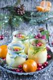 Christmas creme brulee Royalty Free Stock Photos