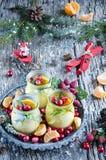 Christmas creme brulee Stock Image