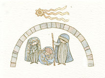 Christmas crib 1 vector illustration