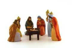 Christmas crib. Christmas Sheppard and crib with jesus Royalty Free Stock Images