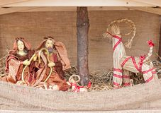 Christmas crib Stock Images