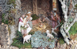 Christmas crib Stock Photos