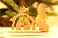 Christmas crib stock image