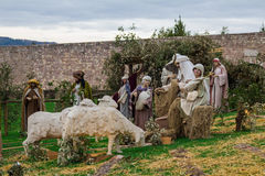 Christmas crib in Assisi Stock Photo