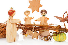 Christmas crib. The birth of Jesus. Stock Images