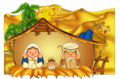 Christmas crib Stock Image