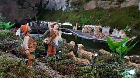 Christmas crib in Maccagno royalty free stock photos