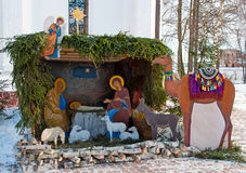Christmas crib. nativity scene Stock Images