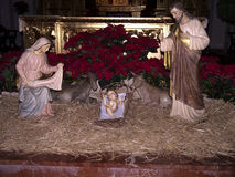 Christmas Crib in Nerja Spain Stock Photos