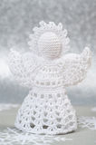 Christmas Crochet Angel Stock Photo