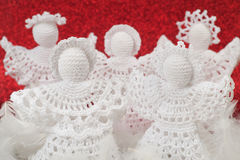 Christmas Crochet Angels Stock Photography
