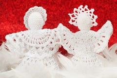 Christmas Crochet Angels Stock Photos
