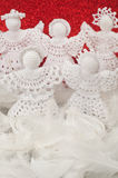 Christmas Crochet Angels Stock Images
