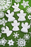 Christmas Crochet Decorations Royalty Free Stock Image
