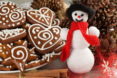 Christmas Crochet snowman Stock Images