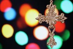Christmas cross. Royalty Free Stock Photo