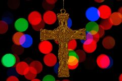 Christmas cross hanging Royalty Free Stock Image