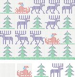 Christmas cross stitch Royalty Free Stock Photo