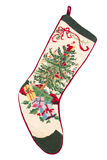 Christmas cross stitch stocking Royalty Free Stock Image