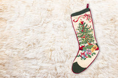 Christmas cross stitch stocking Stock Photography