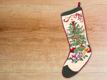 Christmas cross stitch stocking Royalty Free Stock Photo