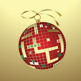 Christmas crossword bauble Stock Photography