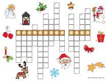 Christmas crossword for children Stock Images