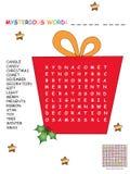 Christmas crossword for children Royalty Free Stock Photos