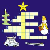 Christmas-crossword Royalty Free Stock Images