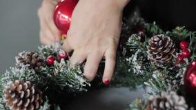 Christmas crown DIY stock video footage