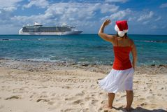 Christmas Cruise royalty free stock image