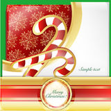 Christmas  crutches card. Writing Christmas cards with the cane wallpaper Stock Photo