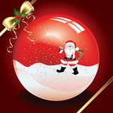 Christmas crystal ball Royalty Free Stock Images