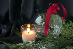 Christmas crystal ball Stock Photography