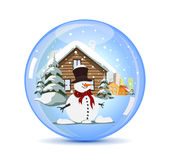 Christmas Crystal Ball Royalty Free Stock Photo
