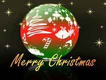 Christmas in crystal ball Royalty Free Stock Image