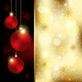 Christmas Crystal Ball Greeting Card Royalty Free Stock Image