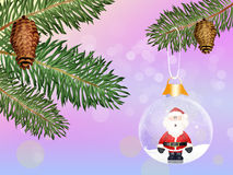 Christmas crystal ball Royalty Free Stock Photos