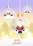 Christmas crystal balls Stock Photo