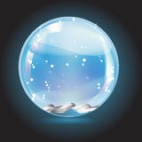 Christmas crystal snow ball Stock Photo