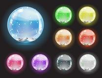 Christmas crystal snow ball Royalty Free Stock Photography