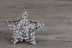 Christmas crystal star Stock Photos