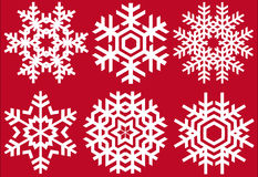 Christmas crystals. Vector snowflakes set Stock Images