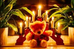Christmas Cuddle Bear Royalty Free Stock Photos